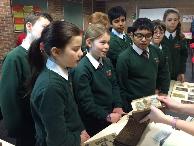 School students take a look at some items from Newcastle University Special Collections