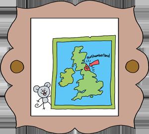19th Century Map of Northumberland