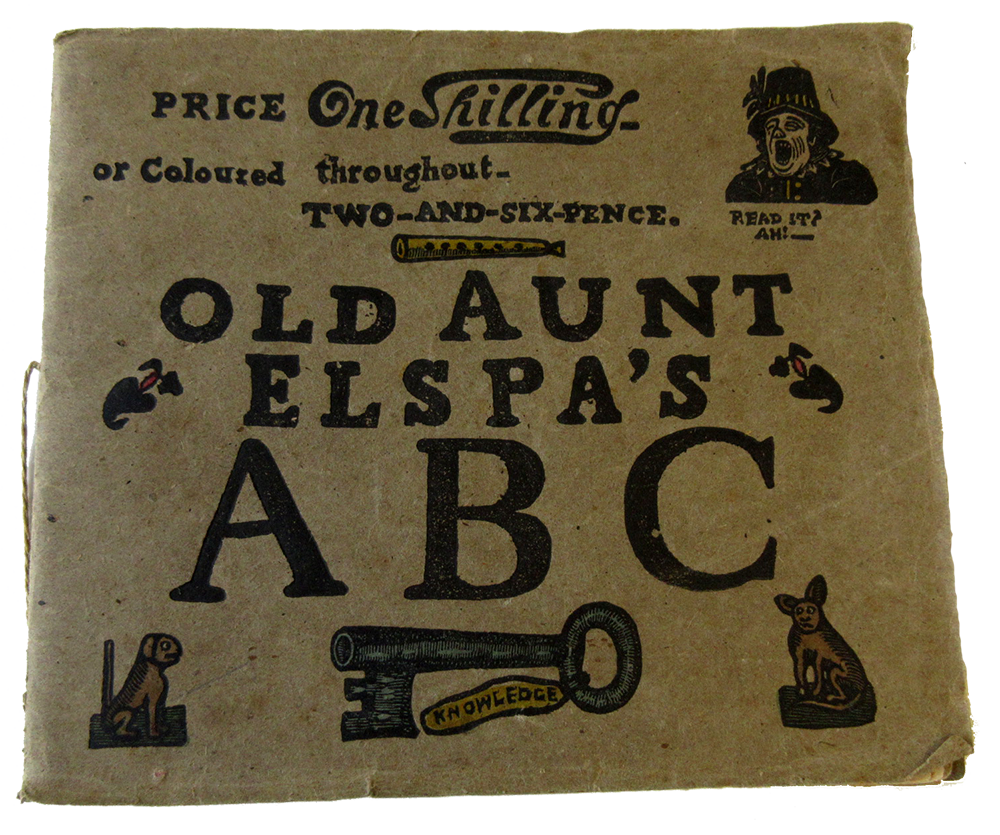 Front of Aunt Elspa's ABC book