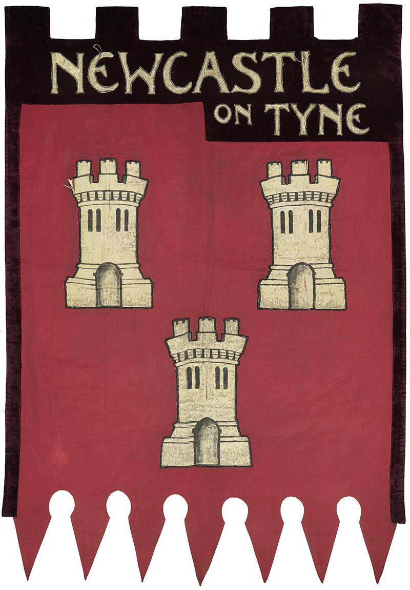Ethel Williams' suffragist banner