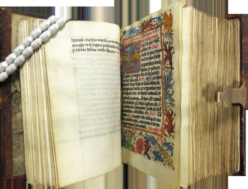 Medieval breviary book - inside