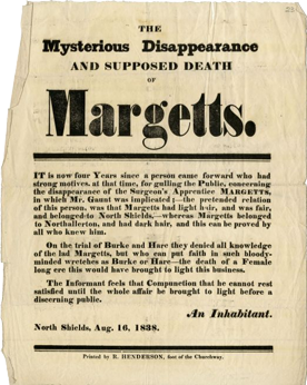 """""""The Mysterious Disappearance and supposed death"""" old poster"""