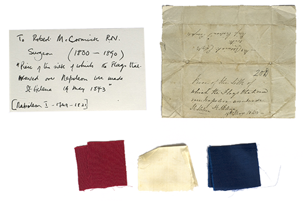 Fragments of Napoleon's flag