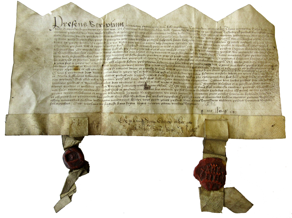 Letter with Henry VII's seal