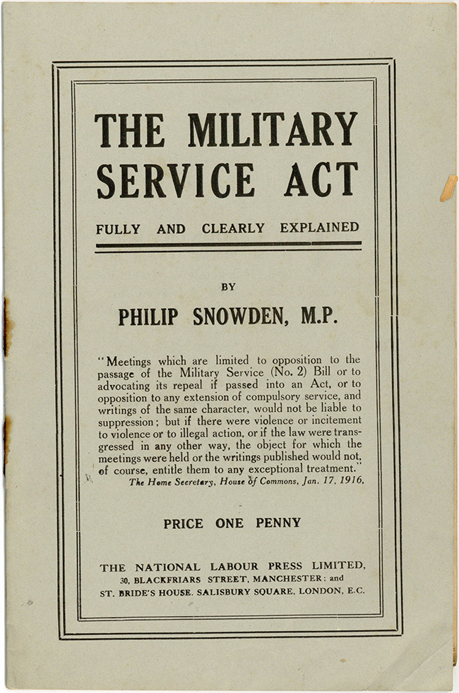 Military Service Act Pamphlet