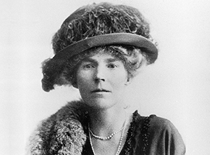 Black and white photograph of Gertrude Bell