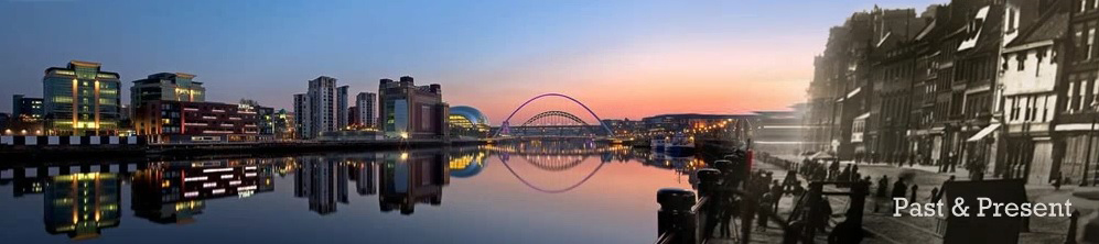 Photograph of Newcastle and Gateshead Quayside past and present