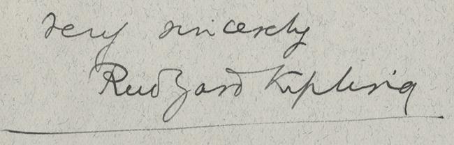 Rudyard Kipling's signature